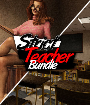 Strict Teacher - BUNDLE 3D Figure Assets 3D Models powerage
