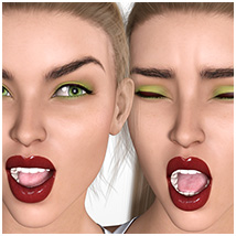 Z Pleasure Pain and Anger - Morph Dial and One-Click Expressions for G8F image 2