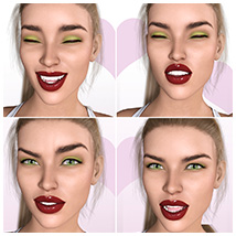 Z Pleasure Pain and Anger - Morph Dial and One-Click Expressions for G8F image 3