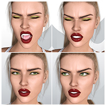 Z Pleasure Pain and Anger - Morph Dial and One-Click Expressions for G8F image 4