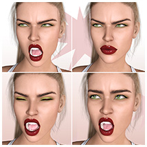 Z Pleasure Pain and Anger - Morph Dial and One-Click Expressions for G8F image 5