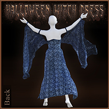 Halloween Witch Dress for Genesis 8 Females image 2