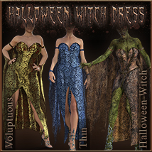 Halloween Witch Dress for Genesis 8 Females image 3