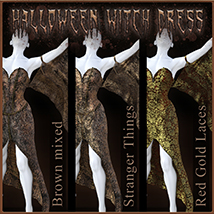 Halloween Witch Dress for Genesis 8 Females image 10