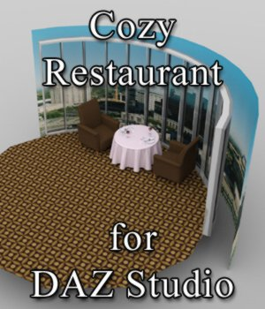 Cozy Restaurant - for DAZ Studio  3D Models VanishingPoint