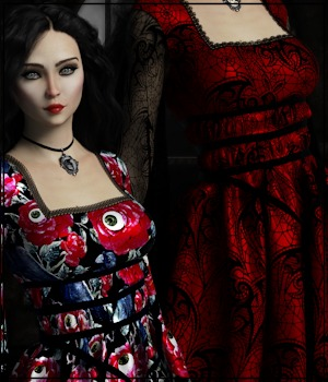 Epic: dForce - Lily Dress for G8F 3D Figure Assets 3-DArena
