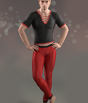 Manly Leggings for Genesis 8 Male 3D Figure Assets Karth