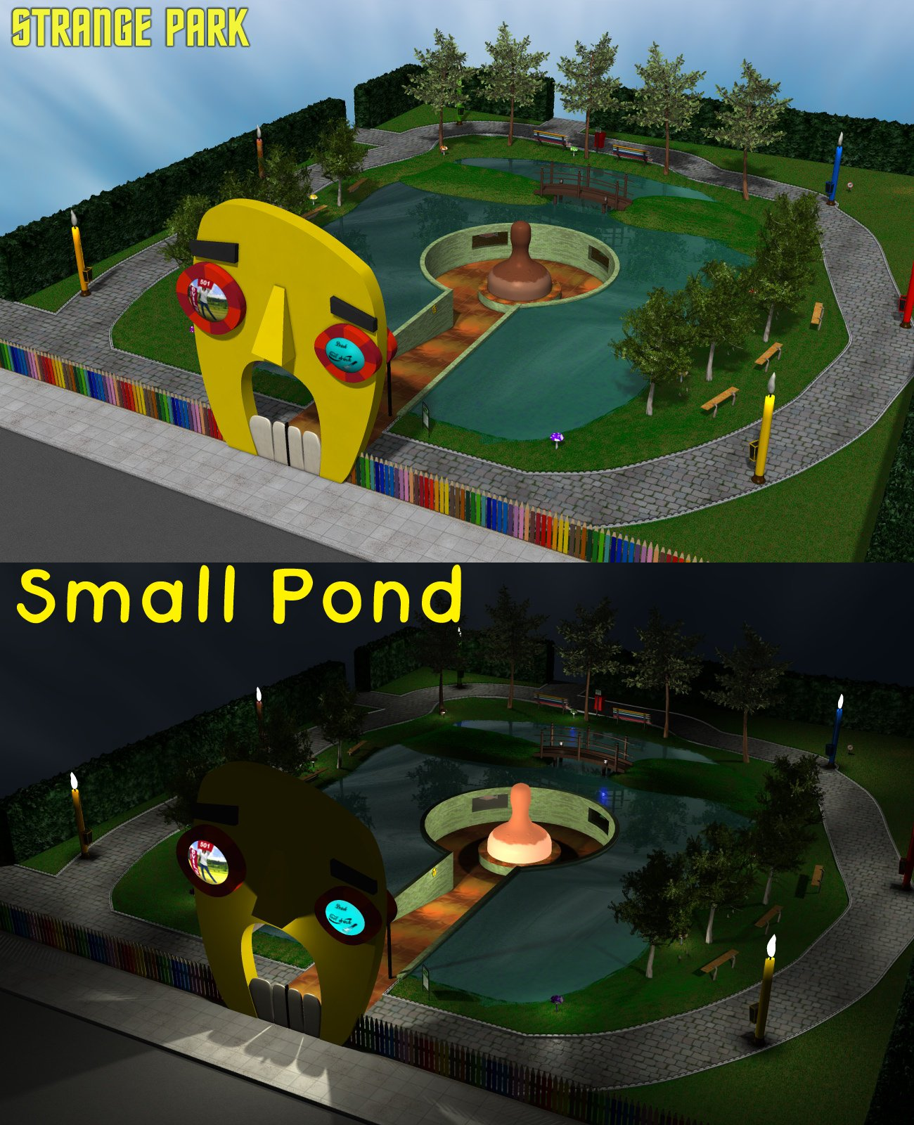 Strange Park - Small Pond - Extended License