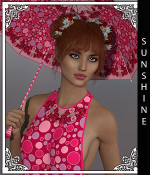 Sunshine for T-Bar Dress 3D Figure Assets sandra_bonello