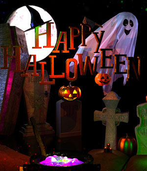 Happy Halloween Props 3D Figure Assets Hinkypunk