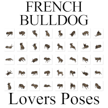 FRENCH BULLDOG Lovers Poses for French Bulldog Breed (Daz Dog 8) image 6