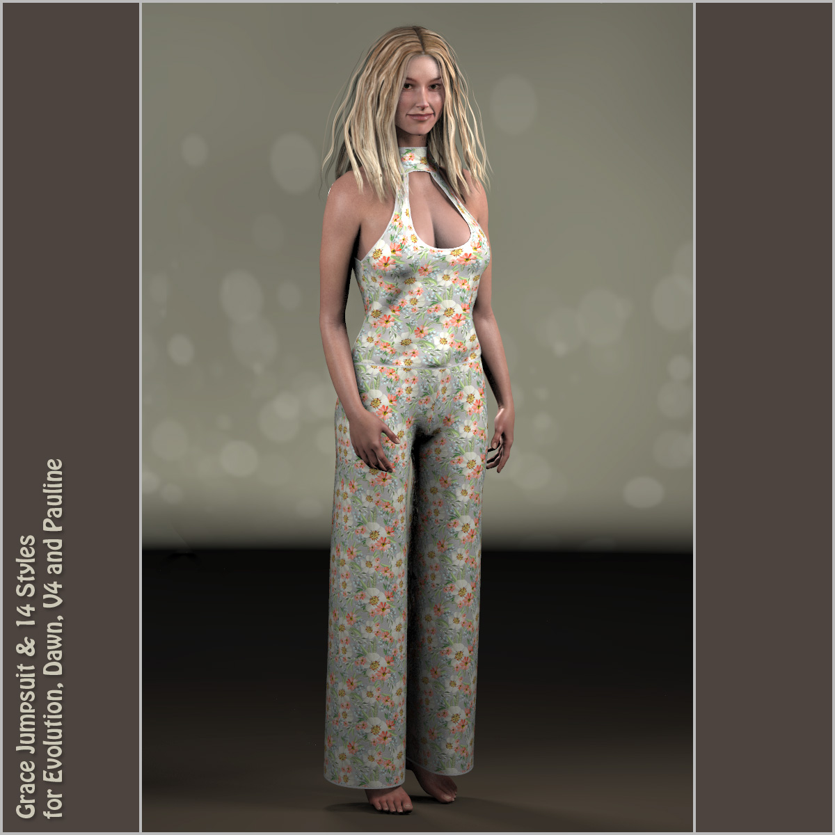 Grace Jumpsuit and 14 Styles for Project Evolution, V4, Dawn and Pauline