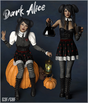 RP Dark Alice 3D Figure Assets RPublishing