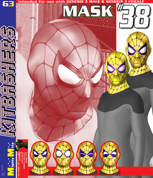 Mask 038 MMKBG3 3D Figure Assets MightyMite