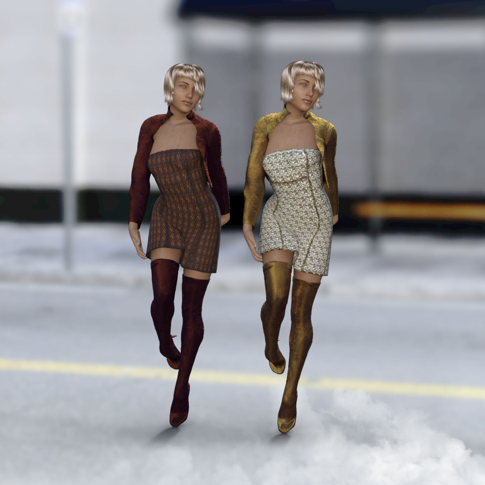 Casual for Misty Short Dress for G8F by biala