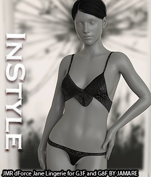 InStyle - JMR dForce Jane Lingerie for G3F and G8F 3D Figure Assets -Valkyrie-