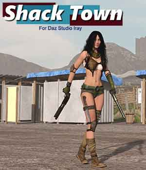 Shack Town for Daz Studio Iray 3D Models kashyyyk