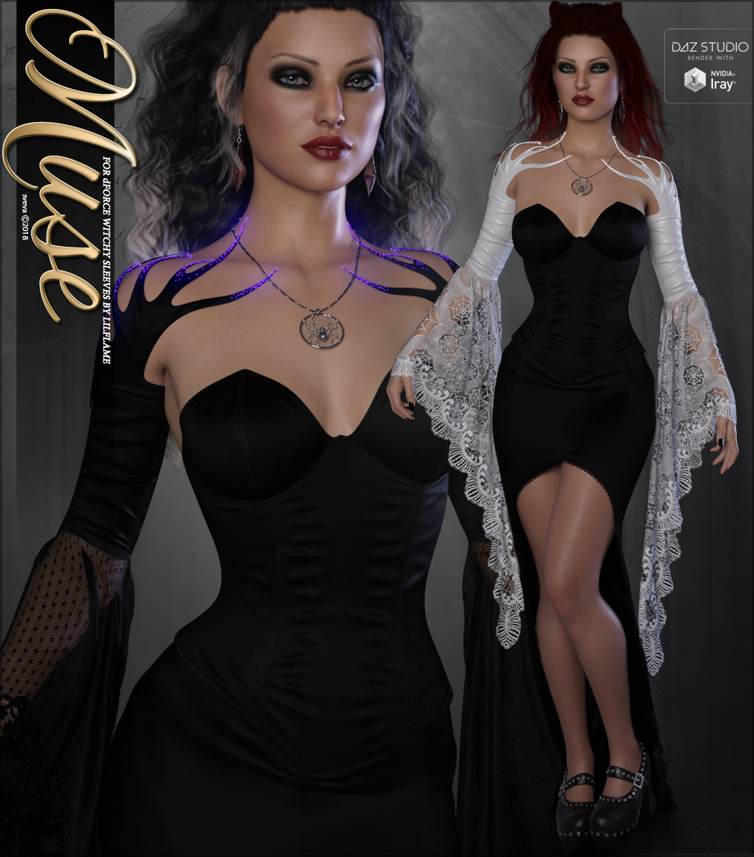 Muse for dForce Witchy Sleeves G8F by Sveva