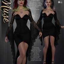Muse for dForce Witchy Sleeves G8F image 3