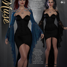 Muse for dForce Witchy Sleeves G8F image 4