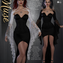 Muse for dForce Witchy Sleeves G8F image 5
