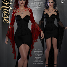 Muse for dForce Witchy Sleeves G8F image 6