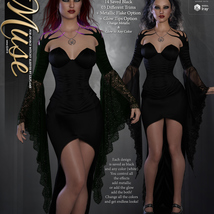 Muse for dForce Witchy Sleeves G8F image 7