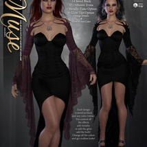 Muse for dForce Witchy Sleeves G8F image 8