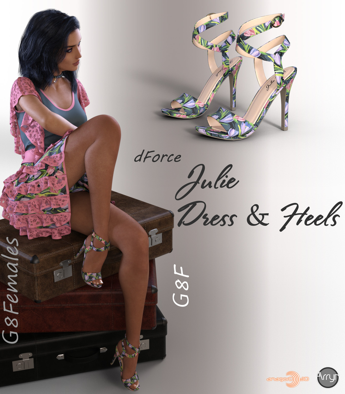 dForce Julie Outfit for G8F