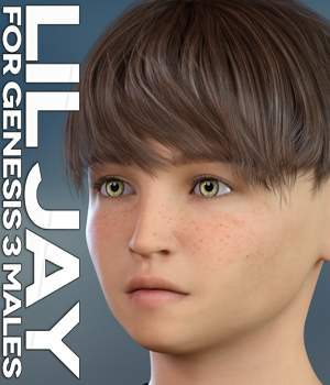 Lil Jay for Genesis 3 Males 3D Figure Assets 3DLoki
