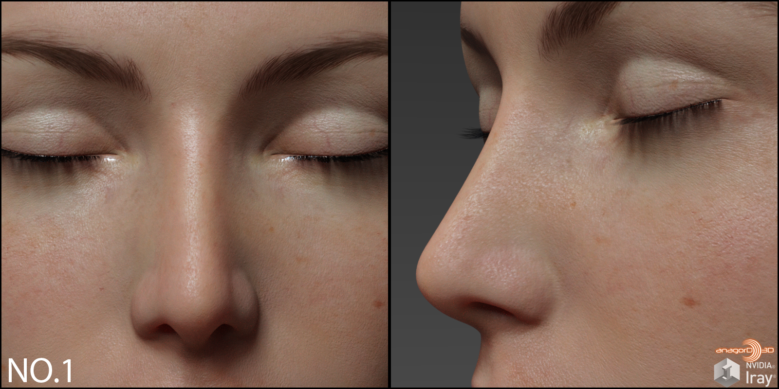 Small Nose Morphs for G8F Vol 1