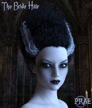 Prae-The Bride Hair G3/G8 Daz 3D Figure Assets prae