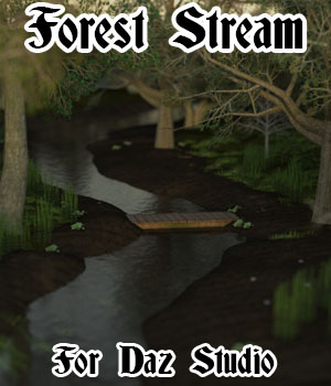 Forest Stream for Daz 3D Models genejoke