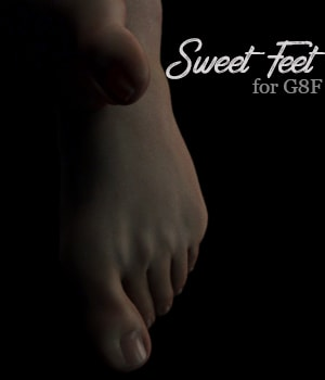 Sweet Feet for G8F 3D Figure Assets AliveSheCried