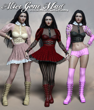 RP Alice Gone Mad 3D Figure Assets RPublishing