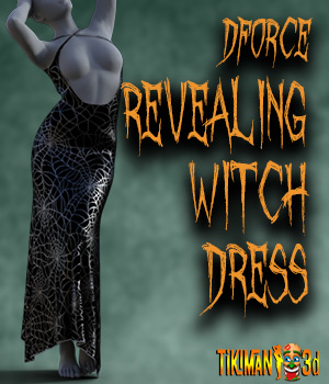 dforce - Revealing Witch Dress 3D Figure Assets Tikiman-3d