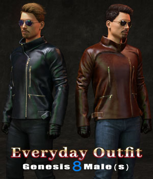 Everyday Outfit for Genesis 8 Males 3D Figure Assets zoro_d