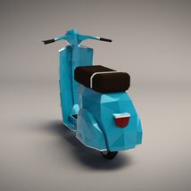Low-Poly Cartoon Scooter - Extended License image 1