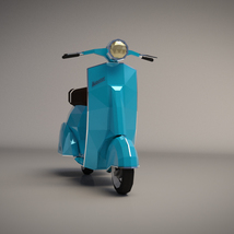 Low-Poly Cartoon Scooter - Extended License image 4
