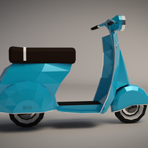 Low-Poly Cartoon Scooter - Extended License image 5