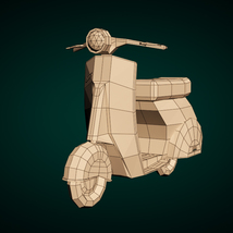 Low-Poly Cartoon Scooter - Extended License image 6