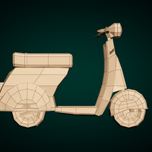 Low-Poly Cartoon Scooter - Extended License image 8