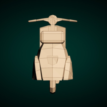 Low-Poly Cartoon Scooter - Extended License image 9
