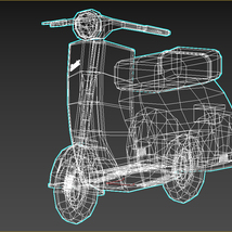 Low-Poly Cartoon Scooter - Extended License image 11
