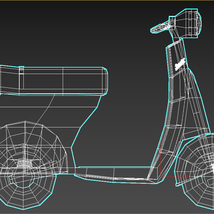 Low-Poly Cartoon Scooter - Extended License image 12