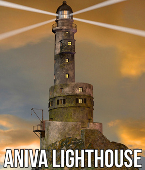 Aniva Lighthouse 3D Models Cybertenko