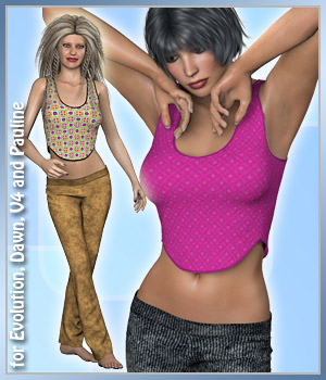 Casual Summer for PE, V4, Dawn and Pauline 3D Figure Assets karanta
