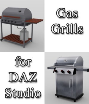 Gas Grills - for DAZ Studio  3D Models VanishingPoint