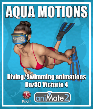 Aqua Motions for V4 3D Figure Assets AnyMatter