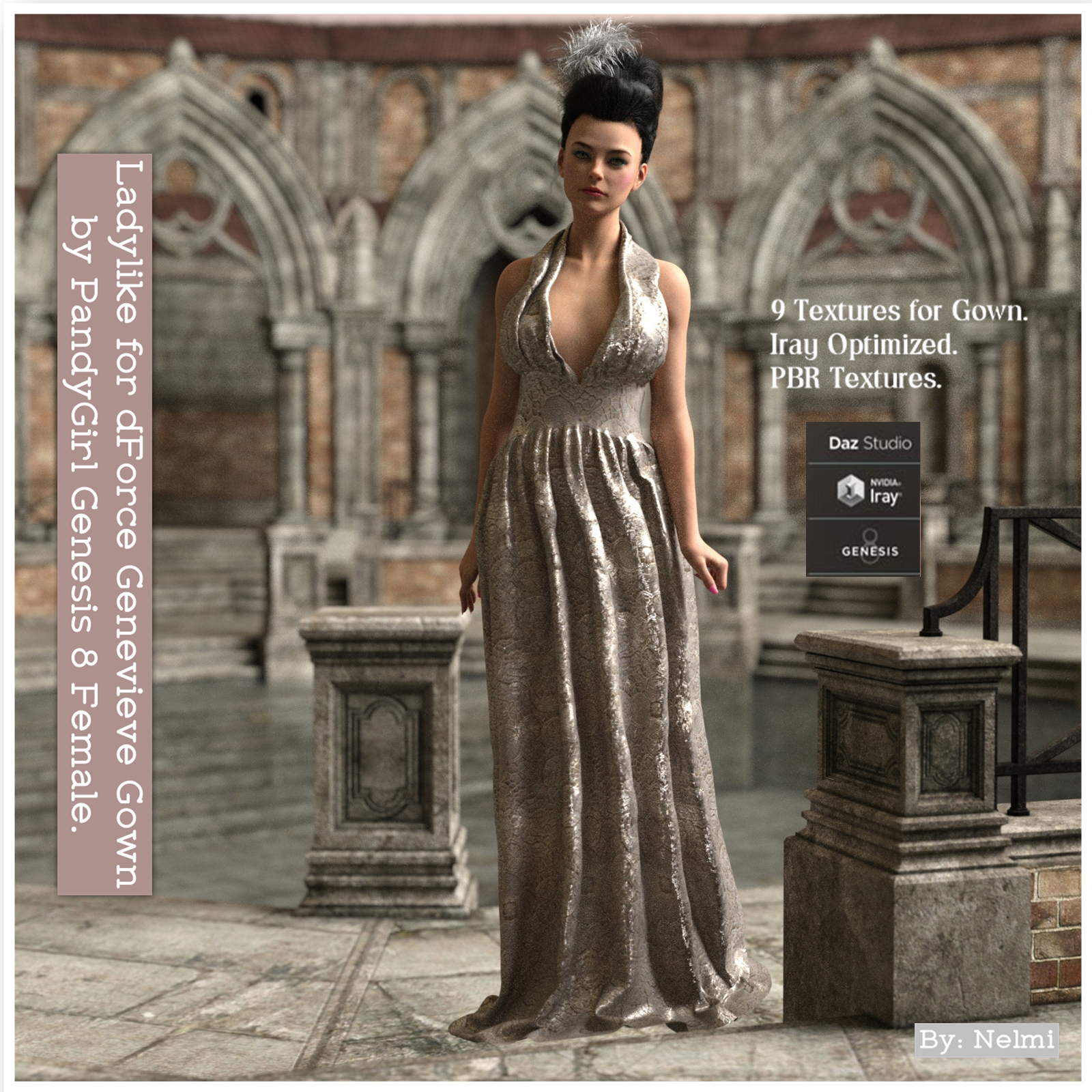 Ladylike for dForce Genevieve Gown for Genesis 8 Female(s)